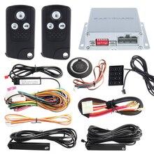 Интеллектуальный ПКЕ автомобильная сигнализация комплект с дистанционным двигателя start/stop, нажмите кнопку пуск и сенсорный ввод пароля 433.92 МГЦ
