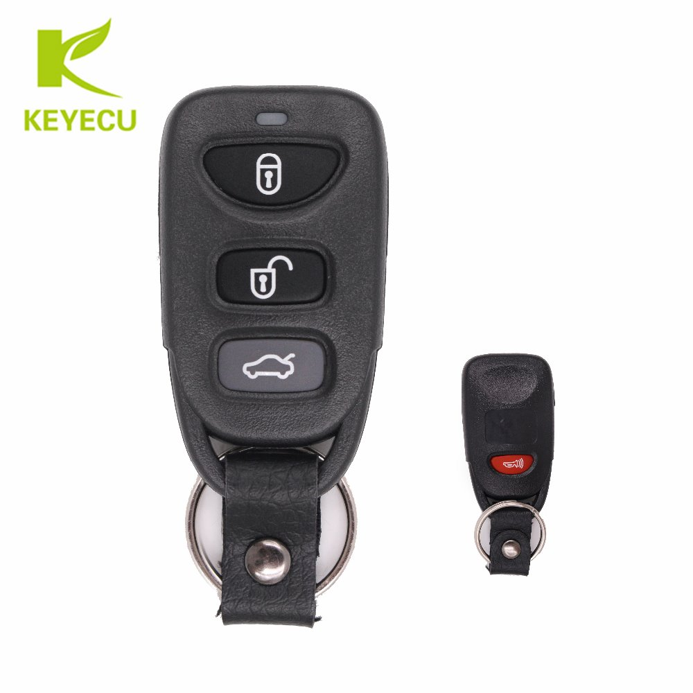 KEYECU 3 Button+Panic BRAND NEW Replacement Remote Key Shell for HYUNDAI Tuscon Accent Keyless Entry Case Fob 3+1 Button