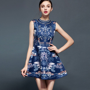 8ca3c0231da High Fashion Casual Gown Luxury Ladies Europe And The Official Website  Dresses 2016 Spring Dress Diamond Adornment Pattern dress