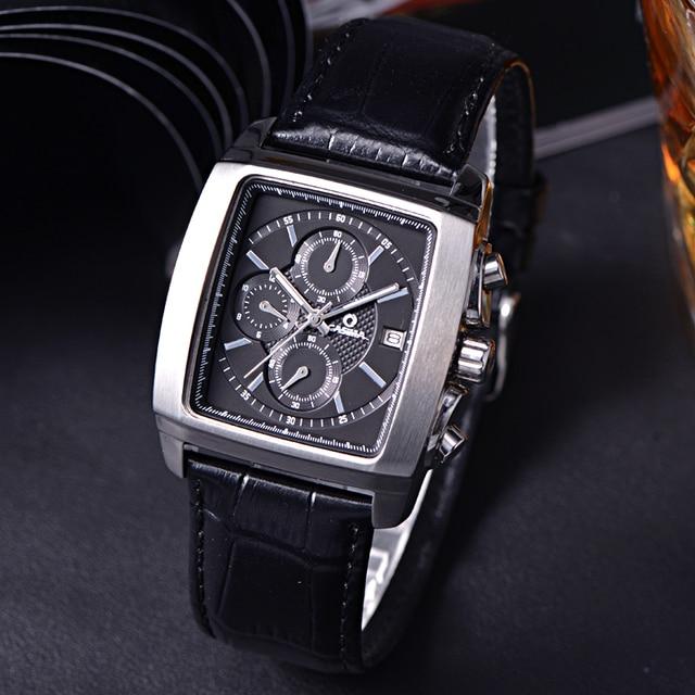 Casima Men Watches Top Brand Luxury Reloj Hombre Clock Relogio Masculino Business Dress Rectangle Dial Quartz Watch Montre Homme
