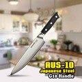 TUO BESTECK Chef Messer-3 Schichten AUS-10 Japanischen Hohe Carbon Küche Messer mit Ergonomische G10 Schwarz Griff-8 ''(203mm)