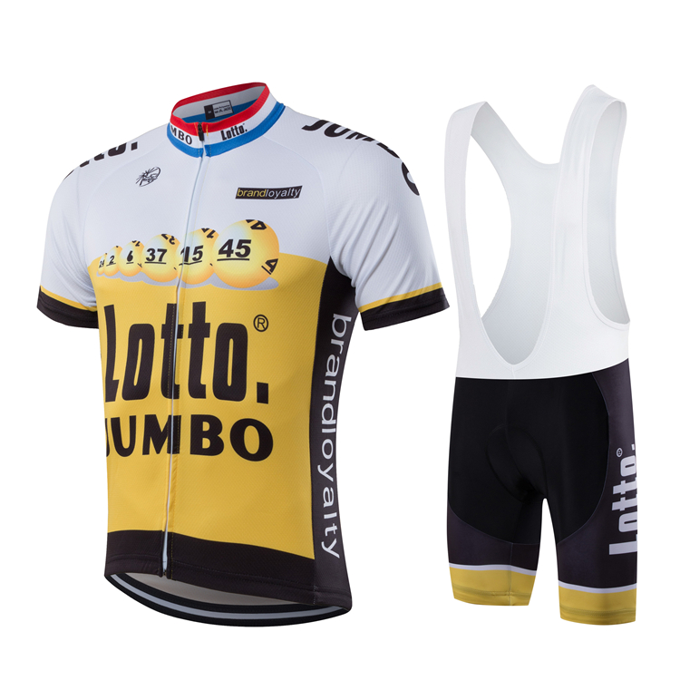 100% Polyester Lotto Jumbo Pro Team Cycling Jersey Summer Short Sleeve Quick Dry Cloth MTB Ropa Ciclismo Bicycle Maillot GEL Pad 2017pro team lotto soudal 7pcs full set cycling jersey short sleeve quickdry bike clothing mtb ropa ciclismo bicycle maillot gel
