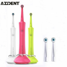 100-240V Sonic Rotation Electric Toothbrush Oral Ultrasonic Rechargeable Electric Tooth Brush 2 Heads Teeth Brush for Adult Kids