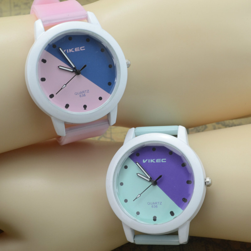 Fashion Trend Lovers Kids Watches Simple Leisure Luminous Silica Gel Band Students Watch Men And Women Children Watches