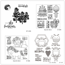 AZSG Cartoon Style Cute Animals Unicorn Frog Bee Clear Stamps For DIY Scrapbooking/Card Making Decorative Rubber Stamp Crafts