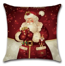 2pcs Christmas Santa Deer Bulb Tree Socks Cushion Sofa Bedroom Decorative Pillow Cover Cushion Cover Home Sweet Pillow Case