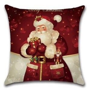 Image 1 - 2pcs Christmas Santa Deer Bulb Tree Socks Cushion Sofa Bedroom Decorative Pillow Cover Cushion Cover Home Sweet Pillow Case