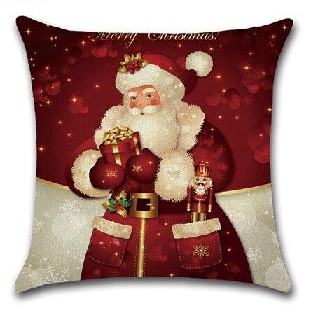 2pcs Christmas Santa Deer Bulb Tree Socks Cushion Sofa Bedroom Decorative Pillow Cover Cushion Cover Home Sweet Pillow Case