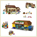 IN STOCK Lepin 16004 16005 The Simpsons Bart Homer the Kwik-E-Mart  Action Figures Model Building Block Bricks Compatible 71016