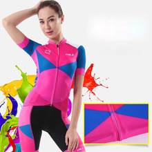 Women's Cycling Jersey Set Reflective CHEJI Mountain Bike Jersey & Bicycle Shorts Kit Maillot Ciclismo Short Sleeve Cycling Suit