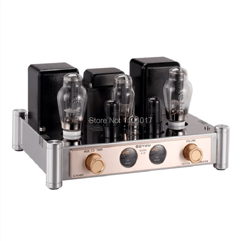 BOYUU Latest A50 II 300B Tube Amplifier HIFI EXQUIS 12AT7 6v6 Driver Lamp Single-Ended Amp BYA502 oldbuffalo 300b signal ended tube amplifier hifi exquis black aluminum chassis 4 way lamp amp