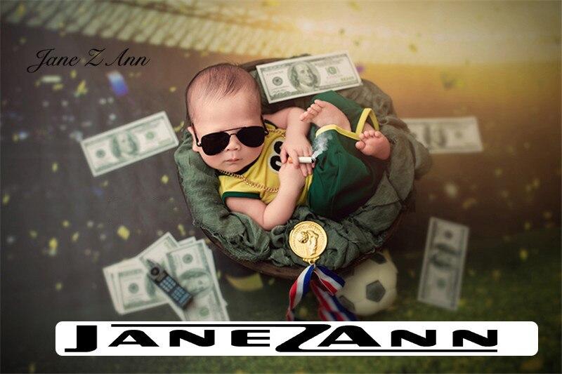 Jane Z Ann Newborn baby photo props super cute big boss mafia theme costume studio creative shooting accessories