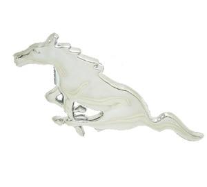 Image 2 - Para Ford Mustang accesorios de estilo de coche 3D Auto pegatina Metal corriendo caballo parrilla delantera parrilla capota del camión emblema insignia
