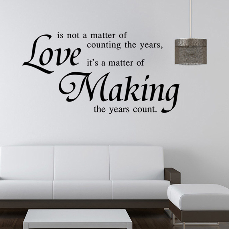 Vinyl Quote Wall Stickers Home Decor Living Room Diy Black Wall Art Decals Removable Sticker For