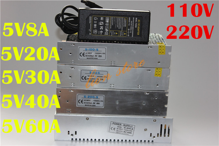 Tiras de Led power supply charger adapter transformador Led Chip Model : Ws2812b/ws2812s