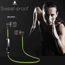 Original AWEI Smart Bluetooth Wireless In-ear Handfree Stereo Headphone for iPhone 5 5S 6 6S Plus Samsung Galaxy Computer iPod