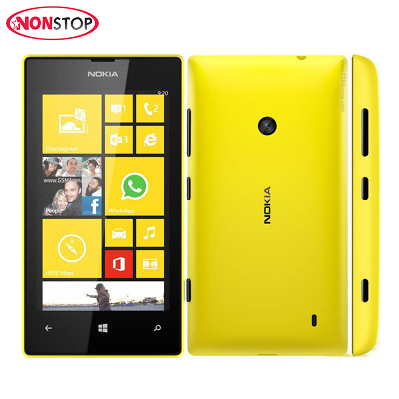 Nokia Lumia 520 Original Mobile-Phone 8GB GSM Bluetooth Dual Core 5MP Refurbished Windows