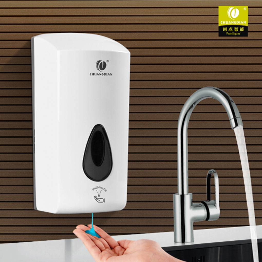 CHUANGDIAN Free Punching Shampoo Box Wall Mount Pump Foam Spray Lotion Drop Auto-Induction Liquid Soap Dispenser automatic infrared sensor free punching liquid soap container wall mount pump lotion drop soap dispenser for bathroom toilet