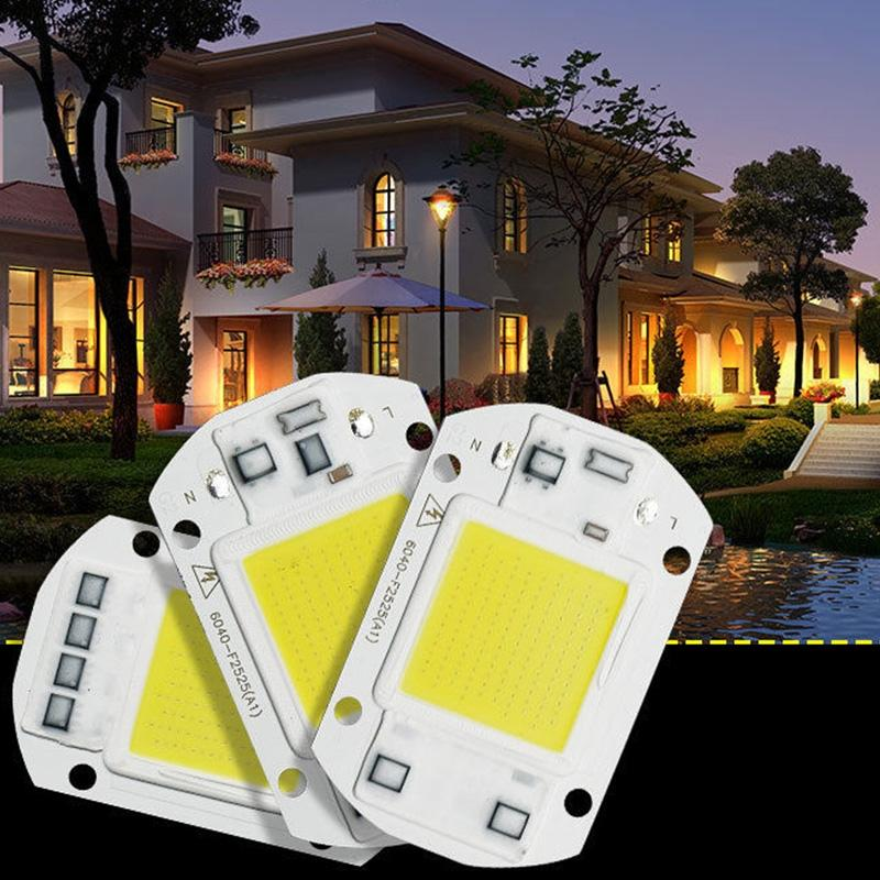 AKDSteel 220V LED Floodlight 20W/30W/50W White/Warm Light COB Chip Integrated Smart IC Driver Lamp
