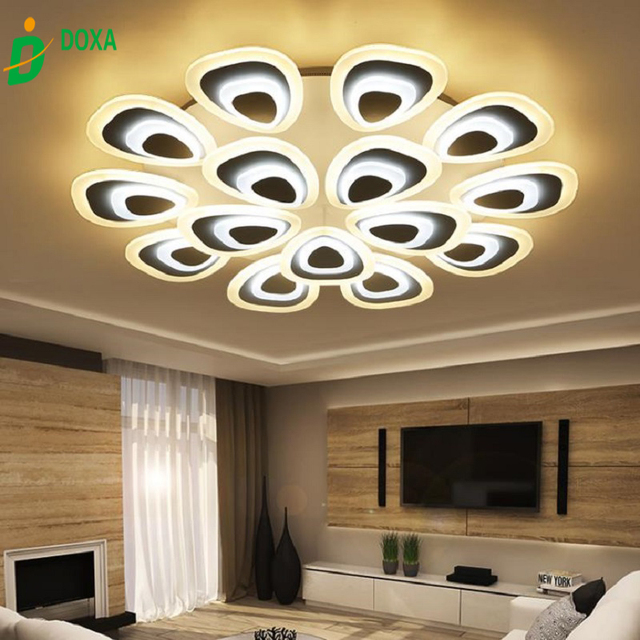 Modern Style Simplicity Acrylic LED Ceiling Lamp Flush Mount Living Room Dining Bedroom Kid Light Fixture Luz De Tech