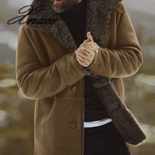 2019 Winter Men Coat Clothing Thick Warm Woolen Overcoat