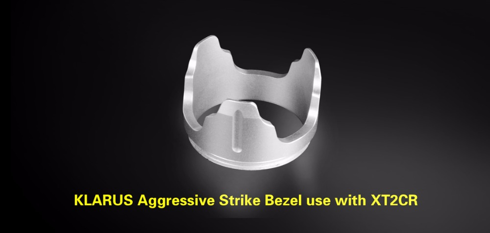 KLARUS BZ-2 aggressive strike bezel for KLARUS XT2CR XT11 XT12