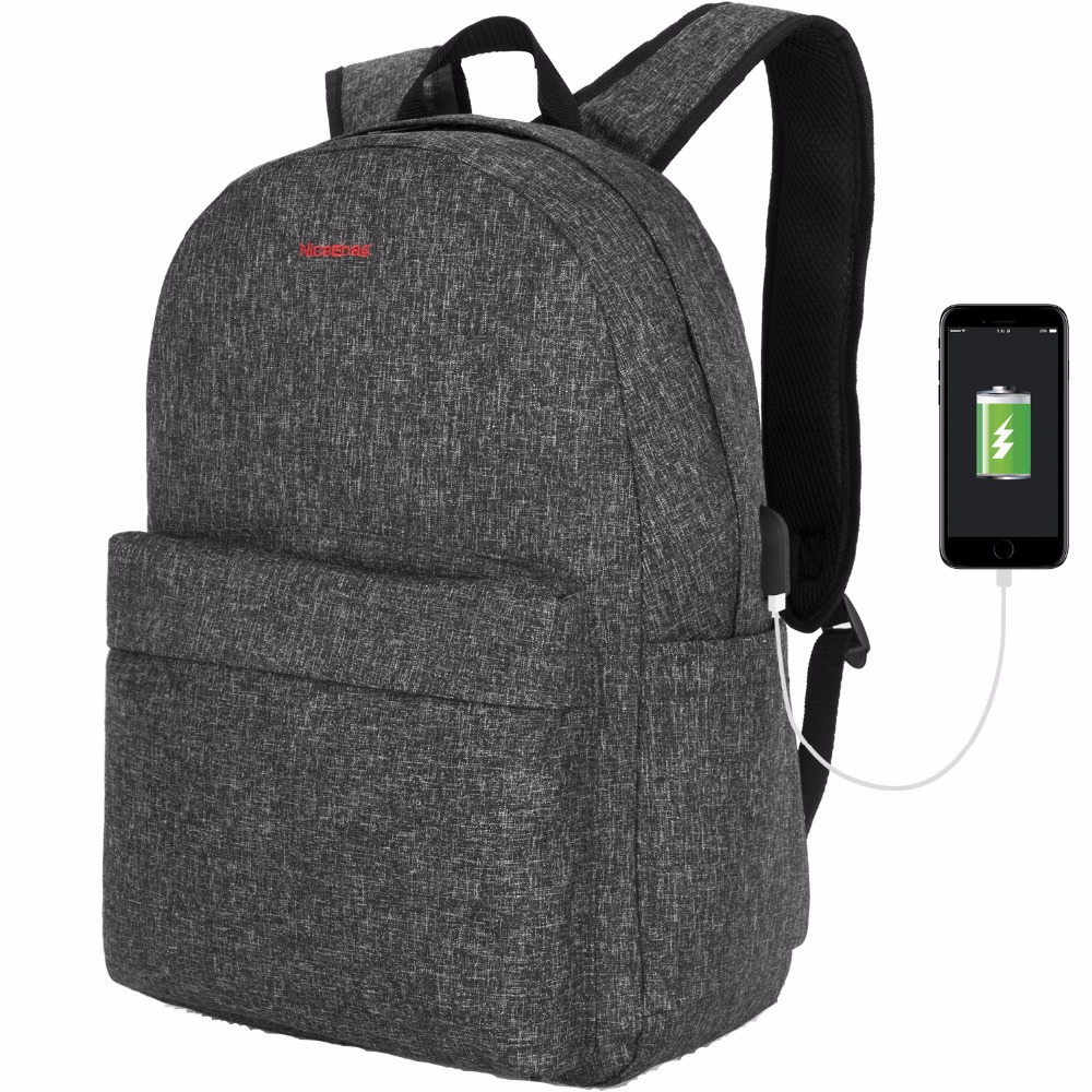 Fashion Computer Backpack Women Polyerter Lightweight Laptop Bag Backpack Male Student Travel Day pack For 15.6 inch Laptop
