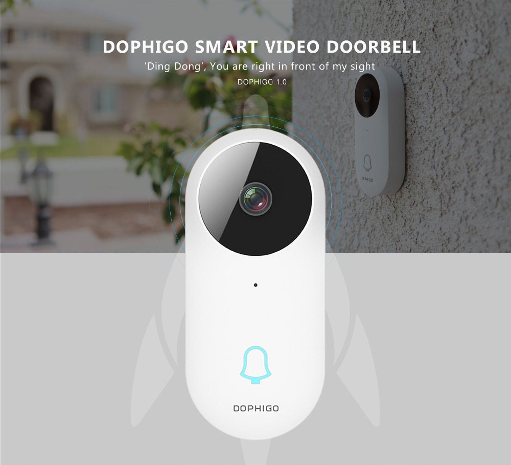 Smart Home Waterproof Wi-Fi Wireless Intercom Video Door Bell with 960P High Resolution & Groupchat feature 140f1142 devireg smart интеллектуальный с wi fi бежевый 16 а