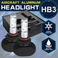 Oslamp solo haz cree chips hb3/9005 linterna del coche automóvil suv led head light bulbs 50 w/pair llevó fan-menos faros antiniebla 6500 k