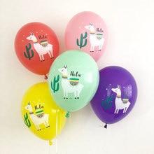Festa de aniversário decoração da festa de aniversário do balão da folha de lama bonito alpaca llama látex balões do menino da menina do casamento do chuveiro do bebê suprimentos