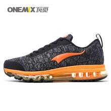 Onemix 2016 новые кроссовки кроссовки для мужчин бренд воздухопроницаемой сеткой спортивной воздушной подушке открытый спортивная обувь zapatillas черный