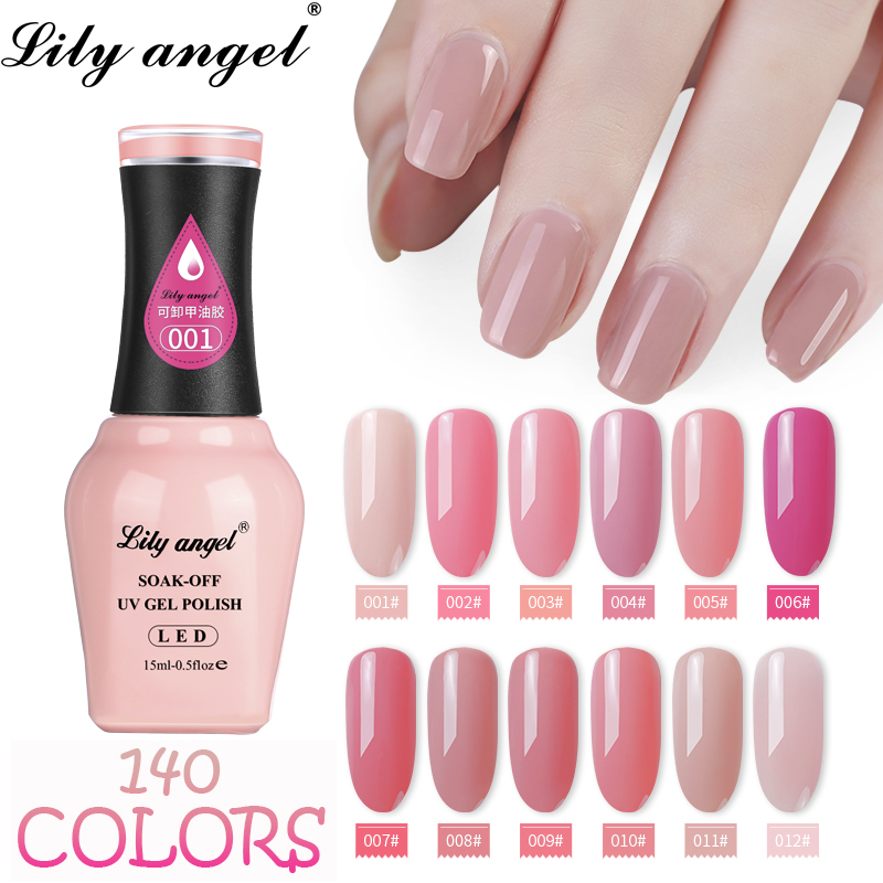 LiLy Angel 2019 New pattern Durable Soak-off Nails Gel Polish 15ml Nail  140 Colors Optional 1-38