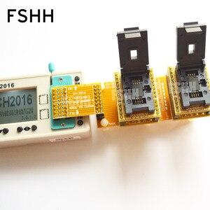 Image 2 - לא מקוון מתכנתים CH2016 SPI פלאש מתכנת + 6X8mm QFN8 + QFN8 מבחן שקע ייצור 1 גרור 2 מתכנת