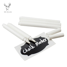 4/10pcs White Liquid Chalk Pens for Wall Sticker Kid Room Blackboard Kitchen Jar Convenient Removable Mark Pen School Stationery