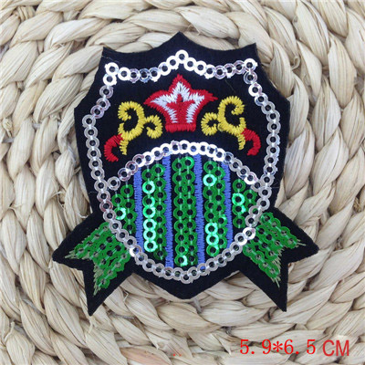 11PCS LOT Mix design CROWN Sequins Patches For Clothes Embroidered Iron On Patch Stage Clothing Accessory Applique Badge in Patches from Home Garden