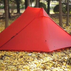 Image 5 - Die Kostenloser Geistern Libra Zelt 20D silnylon 2 Person Oudoor Ultraleicht Camping Zelt 3 Saison Professionelle Kolbenstangenlosen Zelt