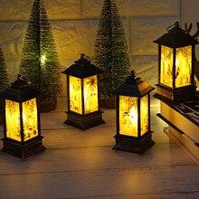 3 шт. светодиодный светильник для свечи Рождественская елка подвесной светодиодный светильник для чая Снеговик партент свечи для Рождественского украшения вечерние DIY свет