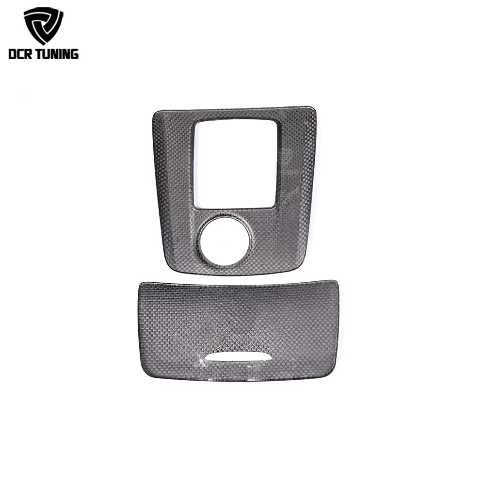 For Mercedes A45 CLA45 GLA45 AMG Carbon Fiber Gear Surround Compartment Cover Interior Trim Accessories