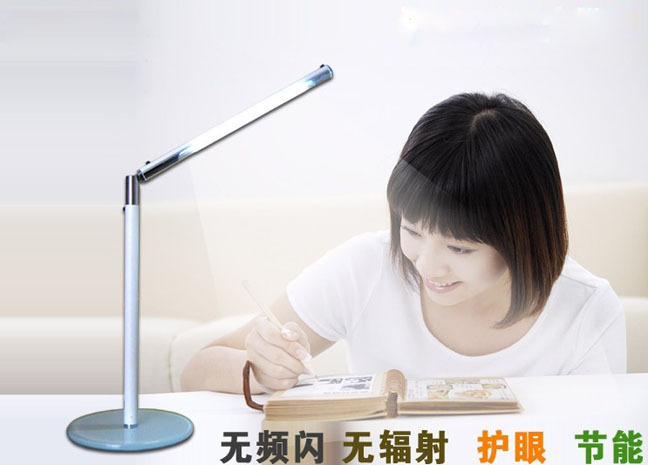 ФОТО Modern simple LED table light lamp 24 LED bright desk light lamp 2W USB/AC 110V-220V power eye protection LED table light