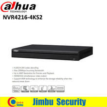 Dahua 4K H.265 NVR video recorder 16ch NVR4216-4KS2 Max 200Mbps Incoming Bandwidth Up to 8MP Resolution for Preview and Playback