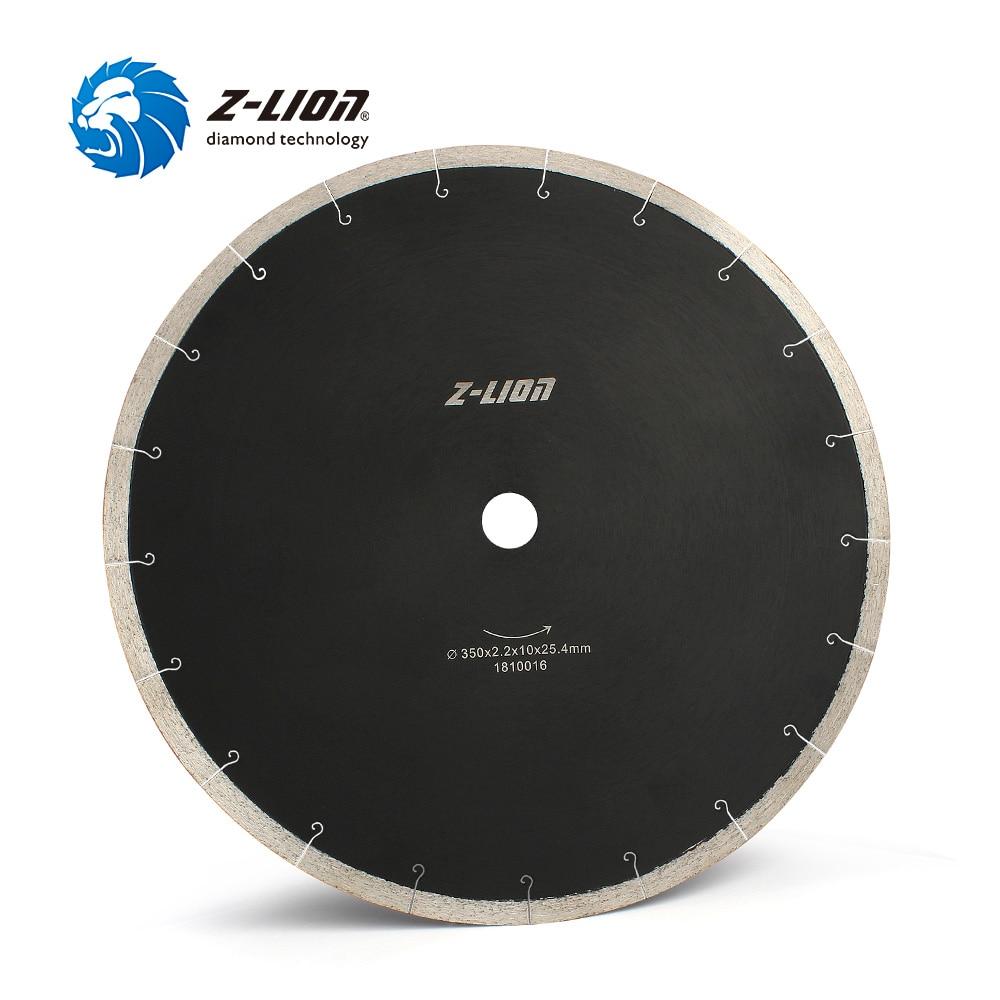 Z-LION 14 Polegada 350mm diamante lâmina de serra para corte telha de mármore cerâmica alta qualidade disco corte