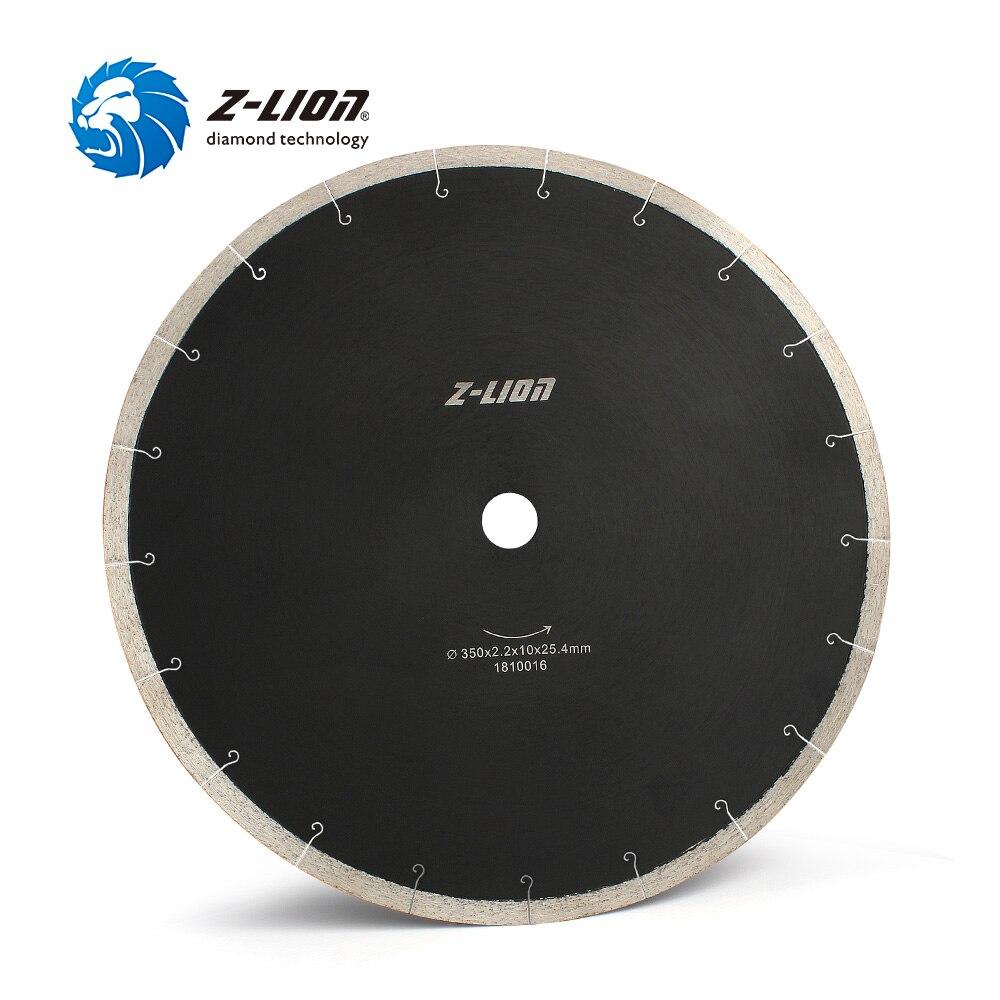 Z-LION 14 дюймов 350 мм алмазной пилы для резки Мрамор плитка Керамика высокое качество отрезной диск