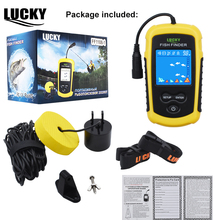 LUCKY Color Display Fish Finder Echo Sounder 100M font b Sonar b font LCD for Ice