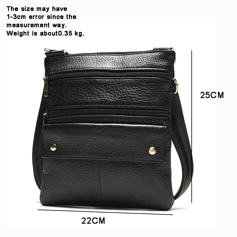 Topdudes.com - High Quality Genuine Leather Crossbody Bag