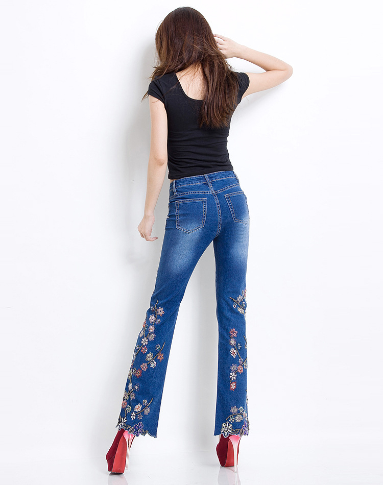 KSTUN Women Jeans with Embroidery High Waist Blue Denim Pants Bell Buttom Jeans Rhinestones Embroidered Fashion Quality Brand 16