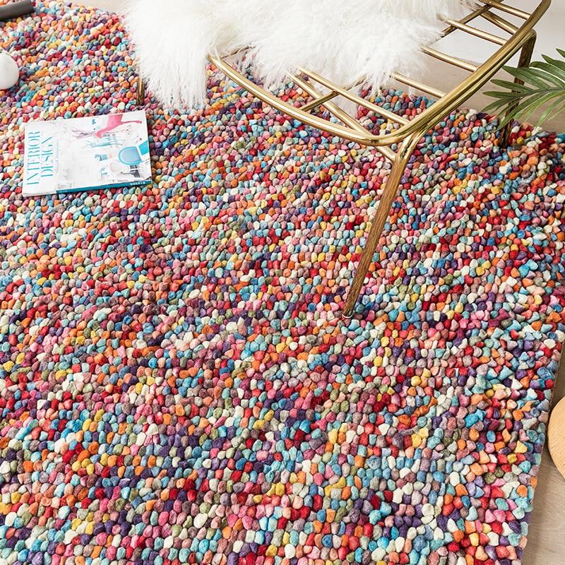 Vision Taste Northern Europe Modern Manual Weave Thickening Wool Felt Carpet A Living Room Study Carpet Land Padgc193kilyg40