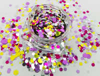 Nail glitter DOTS UNICORN Mix Round Dot Nail Glitter Flake Spangle 1/2/3 mm) for Nail Art Gel Acrylic Make up Craft decoration