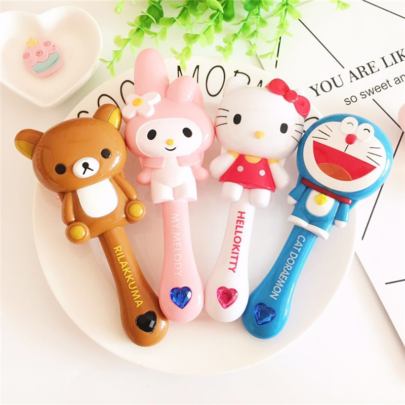 1PCS Hello Kitty Melody Doraemon Rilakkuma Kid Hair Brush Comb Anti Static Air Cell Hairbrush Cartoon Massage Tool Q Cute