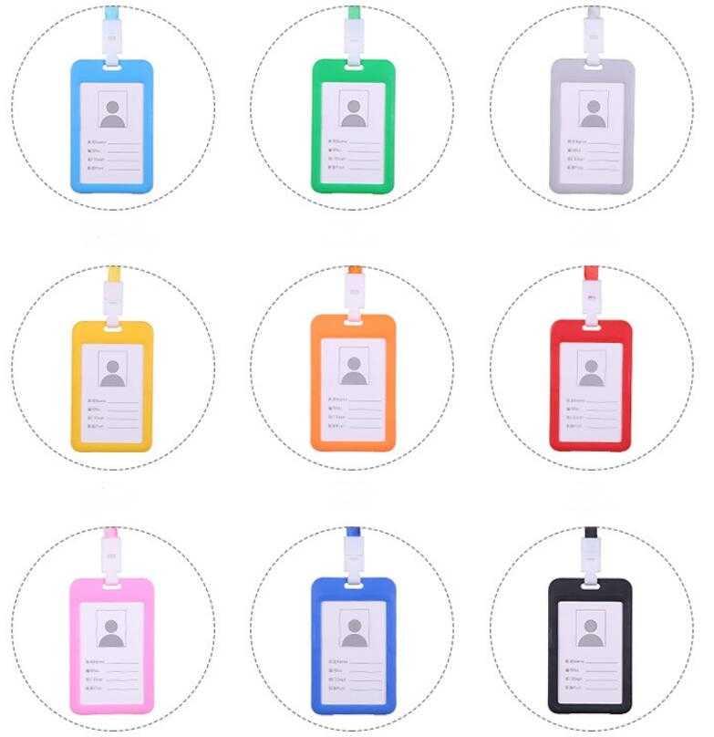 Etya ID Tên Thẻ Tín Dụng Đựng Dành Cho Nữ Thẻ Thẻ Ngân Hàng Bus ID Đựng Kẹo Màu Sắc Bản Sắc Huy Hiệu Cổ dây Đeo Túi