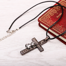 Hot Anime Death Note Black Gold Metal Necklace Cross Logo Pendant Cosplay Accessories Women Men Jewelry Necklaces & Pendants